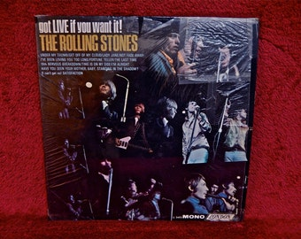 The ROLLING STONES - Got Live if You Want It! - 1966 Vintage Vinyl  Record Album...Record Live at Royal Albert Hall, London