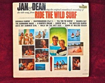 JAN & DEAN - Ride the Wild Surf...Original Soundtrack Recording - 1964 Vintage Vinyl Record Album