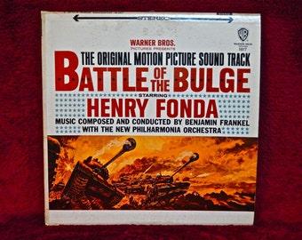 BATTLE of the BULGE - Original Motion PIcture Soundtrack - 1965   Vintage Vinyl Record Album