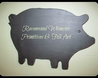 Chalkboard, Animal Chalkboard, kitchen, sheep, country kitchen, primitive pig, farmhouse chalk board, farmhouse sign