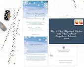 Winter Wedding Invitations - Customizable. Wedding Invitations. Wedding Invitation. Wedding Favors. Wedding Menu. Wedding Programs. Paper.