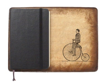 Moleskine Leather Notebook Cover [Large & Pocket Sizes][Customizable][Free Personalization] - Penny Rider