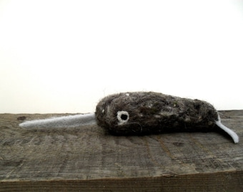 catnip narwhal cat toy needle felted
