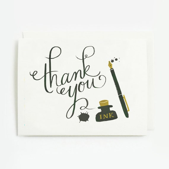 Ink and Blots Thank You Card 1pc