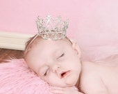 Baby Crown, Newborn Crown, Princess Headband, Mini Crown, Birthday Headband, Flower Girl Headband,Photography Prop