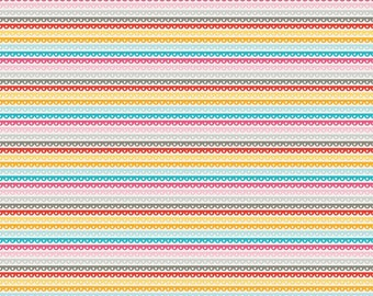 SALE Girl Crazy Yellow Stripe Riley Blake 1 Yard