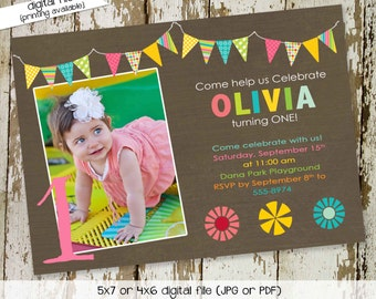 party invitations first birthday invitation child's name mormon party bash lds baptism twin ultrasound (item 273) shabby chic invitations