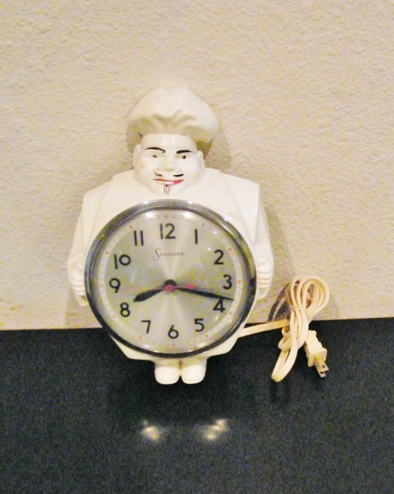 Vintage Sessions Chef Clock