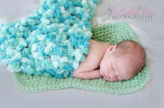 1 Skein Pom-Pom blanket PATTERN Newborn Prop Knit