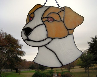 Stained Glass Jack Russell Terrier