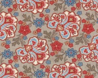 Grant Park Taupe Floral Jacobean by Minick & Simpson for Moda