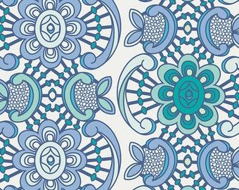 1 Yard Drift Aquatic Lace Sapphire by Angela Walters for Art Gallery Fabrics