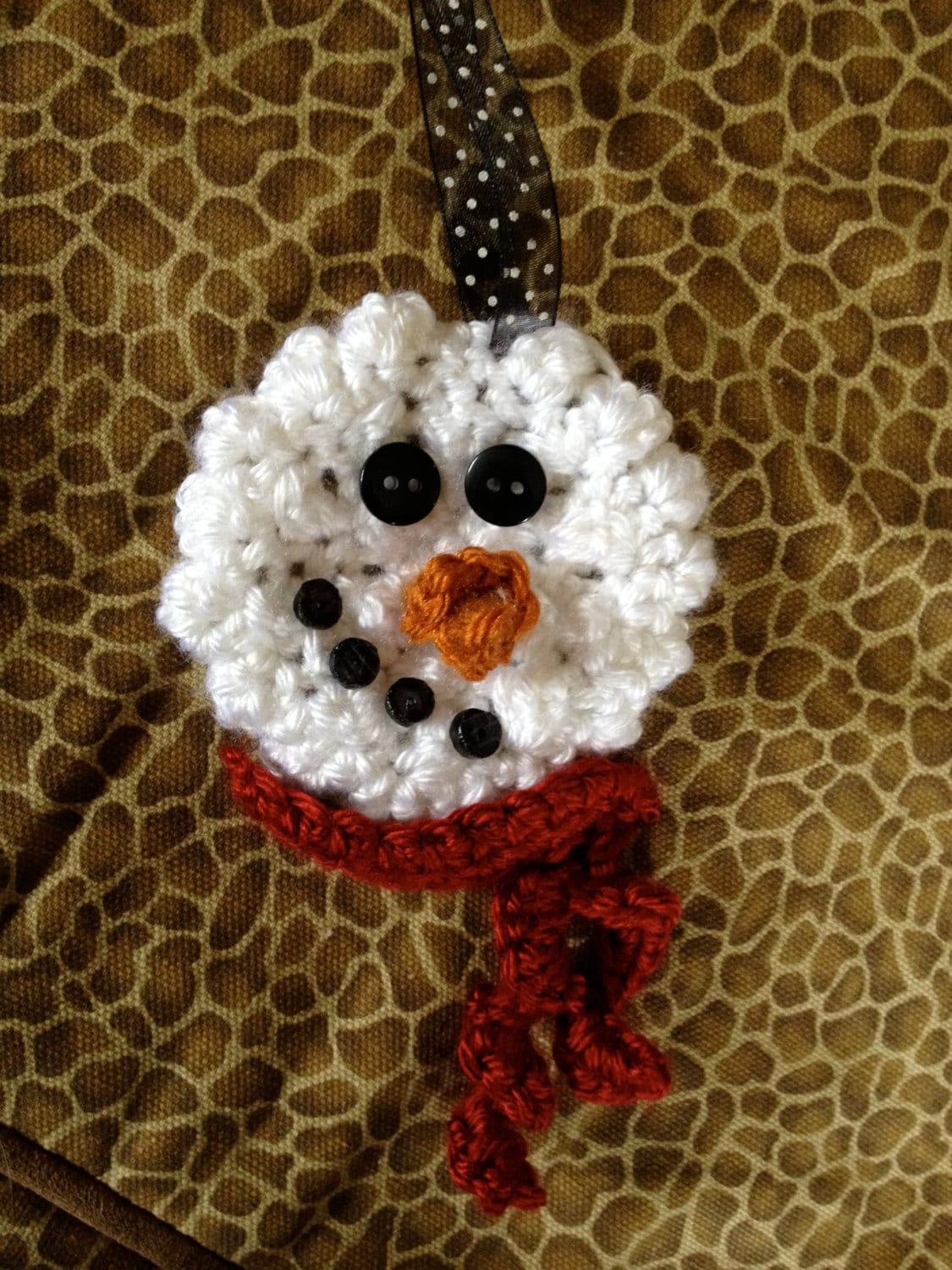Crochet Snowman Pattern Fast Amp Simple Ornament Pin Package