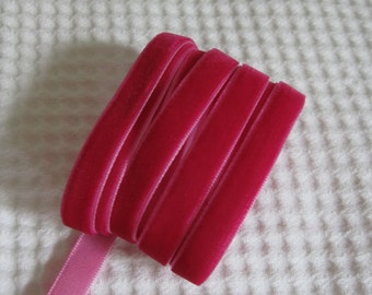 3 Yards Rose Velvet Ribbon 3/8 inch - 40