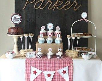 DIY Cowboy party printables -----NO INVITATION-----