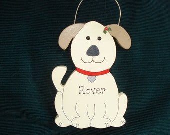 Personalized Wood Christmas Ornament - Doggie