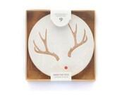 Letterpress Reindeer Coaster Set