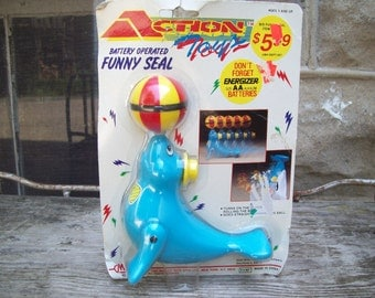 Funny Circus Seal Toy / 90s NIP Toy / Battery Operated Toy