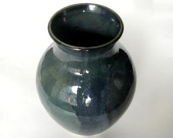 Black and Green Vase