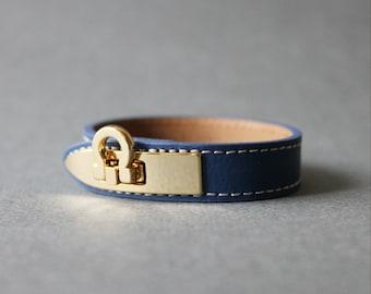 Gancini Metal Ornament Bracelet (Blue)