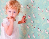Sarah Jane Summer Ride WALLPAPER -Removable, Re-usable, FABRIC, Eco-Friendly, Non-Toxic. Easy Application. No Mess. No Glue Pop & Lolli