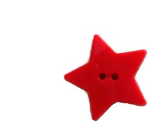 Red Star Buttons... Set of 2