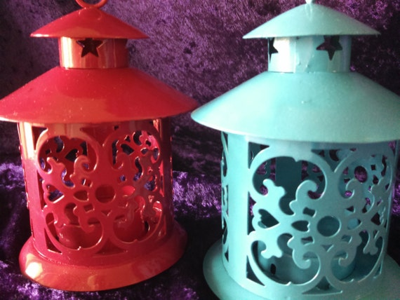 Pagoda style mini lanterns table decoration wedding