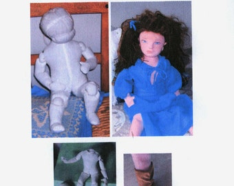 Cloth doll e-pattern pdf
