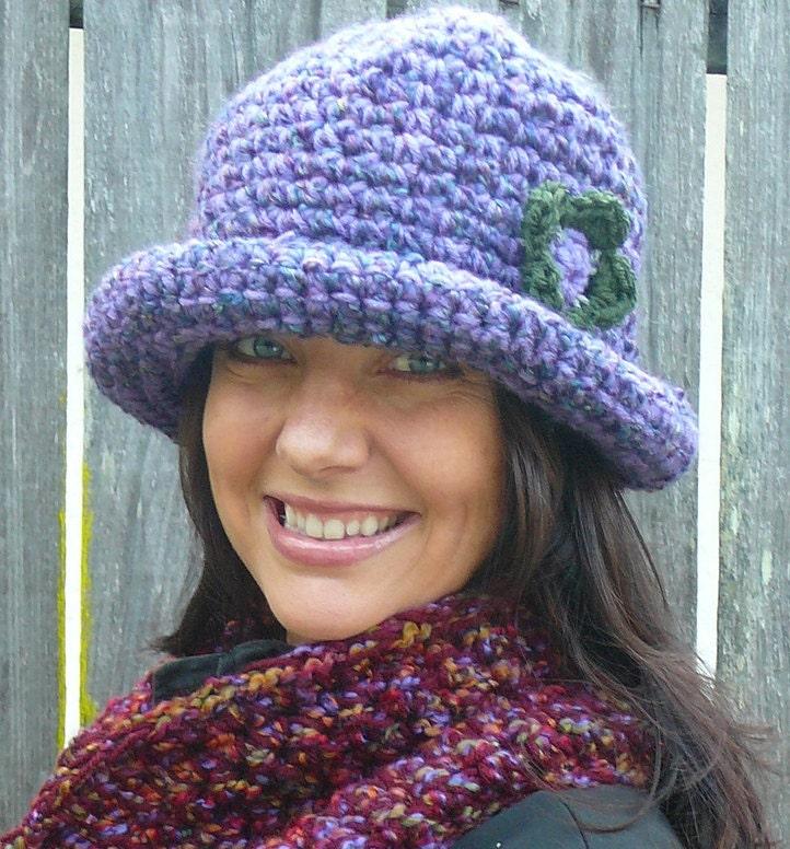 Knit Hat Pattern Rolled Brim : CROCHET PATTERN: Roller Hat a rolled brim hat pattern for