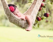 Tan Baby Hammock Newborn Photo Prop -- Over 500 hammocks sold -- Original Designer