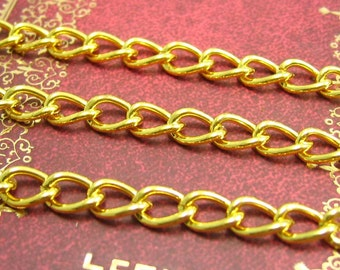 Gold Chain,16 Feet Nickel Free Unfinished Link 8x5mm CH1765