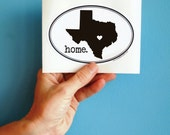 texas home (or any state) vinyl bumper sticker