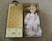 Vintage Porcelain Doll in Carrying Case