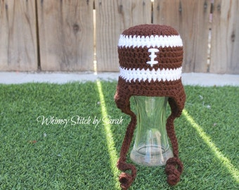 Baby Football Beanie ~ Photo Prop ~ Boy or Girl ~ Let's Play Some Football ~ Made to Order