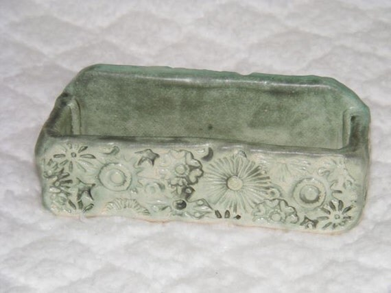 Items similar to handmade pottery business card holder for Ceramic business card holder