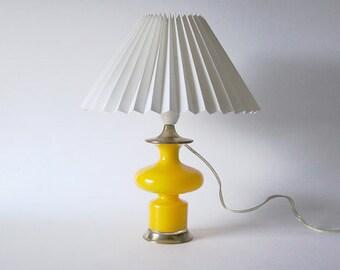 Mid Century Rare Danish Carnaby Yellow Holmegaard Lamp -  Per Lütken, Holmegaard 60s
