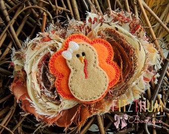 Fall baby headband - Thanksgiving headband - Baby turkey headband - First fall - Baby girl thanksgiving headband  - Baby bow headband