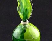 Hand Blown Glass Perfume Bottles New Green