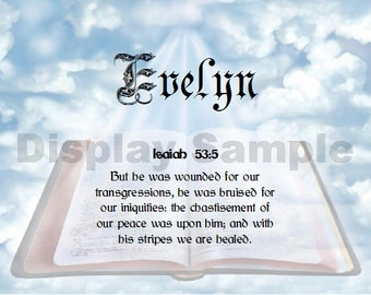 """Bible Scripture for Healing Isaiah 53 5 """" By His stripes we are healed"""""""