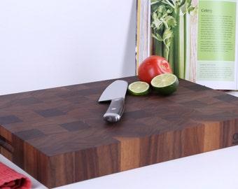 Classic Black Walnut Butcher Block Cutting Board
