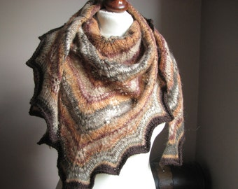 Sweet CiNNamOn - hand knitted shawl