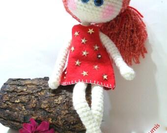 Patterns, Doll, Instant Download, Tutorial, pdf, Amigurumi Girl, Doll Pattern, Crochet Pattern