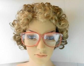 Vintage Arden eyeglasses oversize pink eyeglass frames Elizabeth Arden  EA eyewear huge clear pink prescription frames Arden sunglass frames