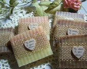 From my shower to yours - 30 bridal shower favors soaps  Shea butter, organic,  handmade soap - rustic soaps