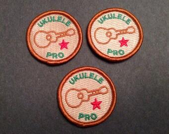 Ukulele Merit Badge - Set of 3 - Embroidered + Bonus