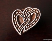 Wood Block, Tjaps, Carved wood stamp, Indian wood stamps, Pottery Stamp- Twin Hearts