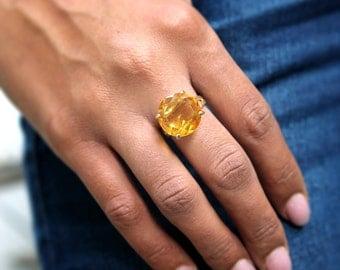 Citrine ring,November birthstone ring,gold ring,gemstone ring,Citrine jewelry,cocktail ring,statement ring