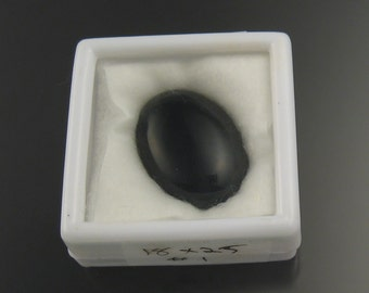 One 18 x 25 mm Black Onyx cab