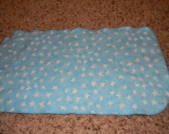 Blue and White Star Burp Cloth