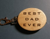 Great Father's Day gift - laser engraved personalized keychain with tape measure (engraved on one side only)